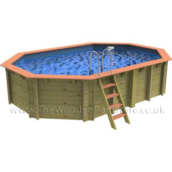 The Belgravia Octagonal Wooden Pool 3.694m x 5.564m (1.31m Depth)
