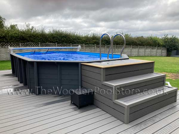 tropic wooden pools above or in ground