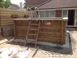 Urban 4.2m x 3.5m Wooden Pool