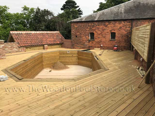 Weva Rect wooden pools above or in ground