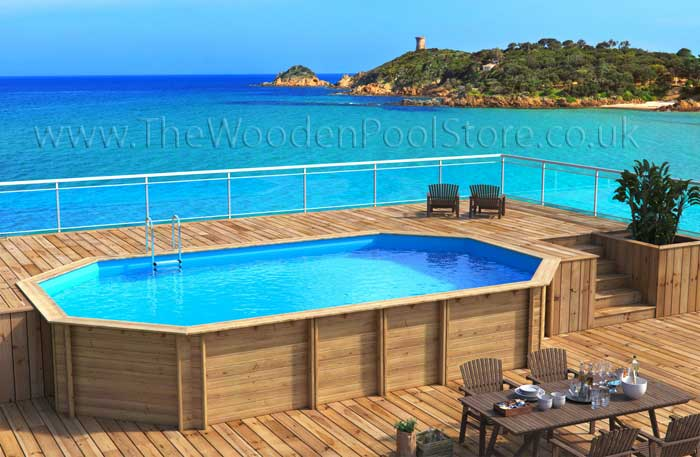 Odyssea Octo+ wooden pools above or in ground