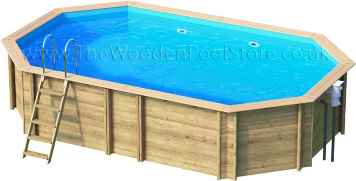 Odyssea Octo+640 wooden pools above or in ground