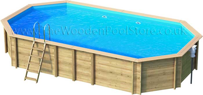 Odyssea Octo+840 wooden pools above or in ground