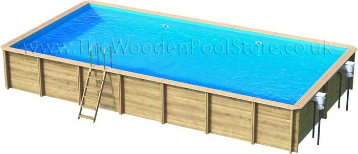 Odyssea Rectangle 6m x 3m Wooden Pool [Odyssea Wooden Pool Rect 6x3 ...