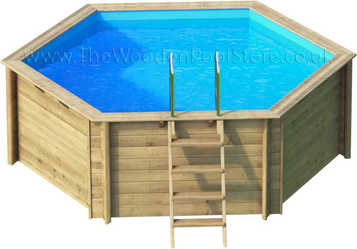 Tropic hexa 410 wooden pools above or in ground