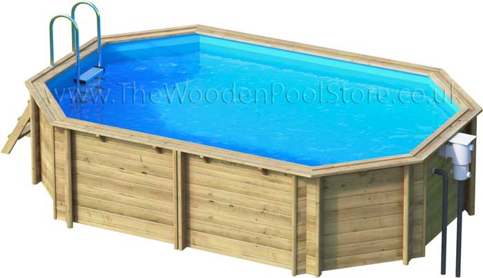 Tropic Octo+450 wooden pools above or in ground