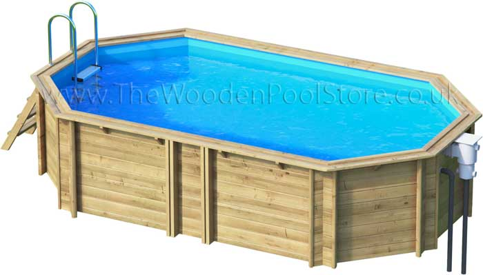 Tropic Octo+ 640 wooden pools above or in ground