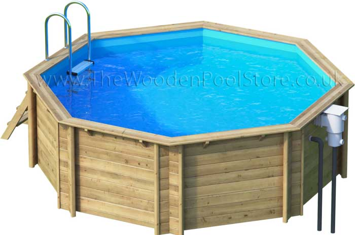 Tropic Octo 414 wooden pools above or in ground