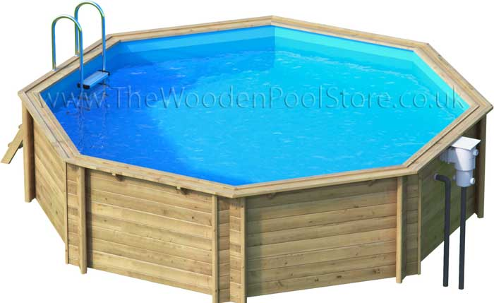 Tropic Octo 505 wooden pools above or in ground