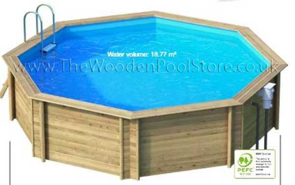 Weva Octo 530 wooden pools above or in ground
