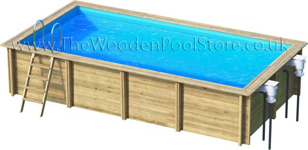 Weva Rectangular 6m x 3m wooden pools above or in ground
