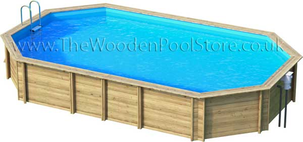 Weva Octo+ 640 wooden pools above or in ground